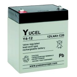 Yuasa Yucel Y4-12 Battery - 4Ah 12V Sealed Lead Acid Battery