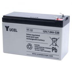 Yuasa Yucel Y7-12 Battery - 7Ah 12V Sealed Lead Acid Battery