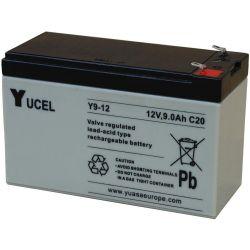 Yuasa Yucel Y9-12 Battery - 9Ah 12V Sealed Lead Acid Battery