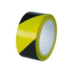 Yellow & Black Self Adhesive Floor Marking Tape - 33m x 50mm - YB-FT