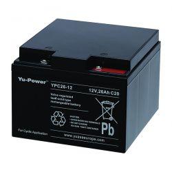 Yuasa YPC26-12 Battery - 26Ah 12V Cyclic Sealed Lead Acid Battery