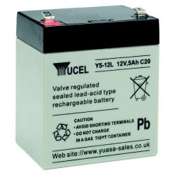 Yuasa Yucel Y5-12L Battery - 5Ah 12V Sealed Lead Acid Battery
