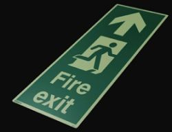 Jalite 4055X Floor Mounted Fire Exit Sign
