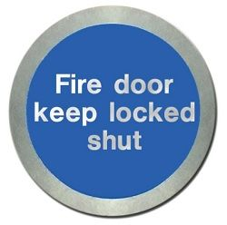Metal Fire Door Keep Locked Shut Sign